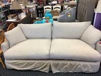 New to ultra plush down filled birch lane grey slip cover sofa Virginia Beach, 23462