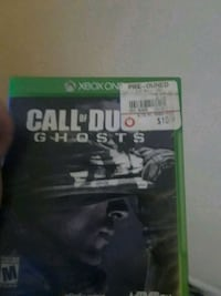 Xbox One Call of Duty Ghosts game case 55 km