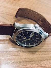 Seiko automatic watch with leather band Vaughan, L4K 5J9