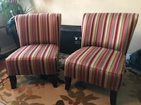 two red-and-white stripe sofa chairs Hanahan, 29410