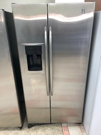 Counter depth GE profile refrigerator it won't dispense water or ice but it cools great sold as is 100 days warranty Baltimore, 21231