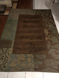 Brown and white floral area rug Bolton, L7E 2H1