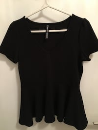Black peplum top Toronto, M5J 3B2