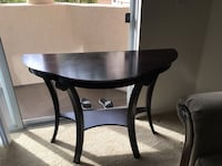 round brown wooden table with two chairs San Diego, 92122