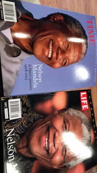 2 Nelson Mandela commemorative magazines from Life and Time