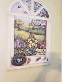 white and brown floral painting