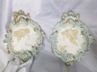 Porcelain Victorian Style Wall Hangings  Fenton