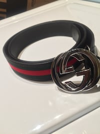 black and red Gucci belt