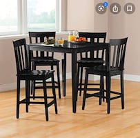 Dining table counter height with 4 chairs
