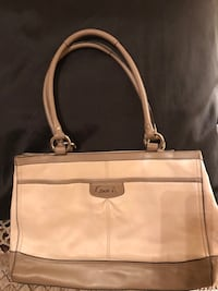 white and brown leather tote bag Tampa, 33624