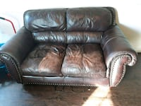 brown leather 2-seat sofa Balch Springs, 75180