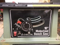 Delta 10 Motorized Bench Saw Fort Belvoir, 22060