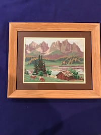 Needle Point Art Picture
