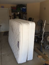 White full mattress with box spring