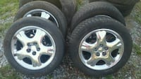 Set of 4 PT cruiser tires and rims ... excellent  Foley, 36535