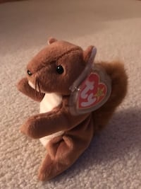 "Rare Ty Beanie Babies ""Nuts"" 1996 Mint Condition with Tag Wichita, 67216"