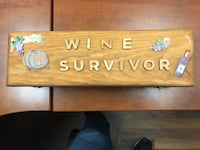 Wooden wine bottle holder Spruce Grove, T7X 0J6