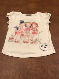 Cute Girl's 3D 95% Cotton Bowed Short Sleeves Shirt by Mayoral, size 3T Farmington Hills, 48336