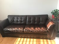 black leather 3-seat sofa Sterling, 20164
