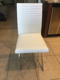 6 White leather dining  chairs Hudson, 34669
