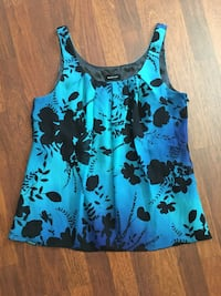 Spence teal blue women's floral shadow top Size M San Jose, 95126