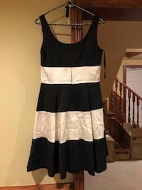 WOR ONCE Black and White Stripped Ralph Lauren Dress - GREAT Condition Grimsby