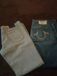 two blue and gray denim bottoms Vallejo, 94591