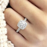*SPECIAL SALE* Trendy White Crystal Ring Calgary
