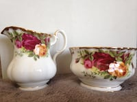 Royal Albert Old Country Roses Cream and Sugar Dishes Sherwood Park, T8H 0W2