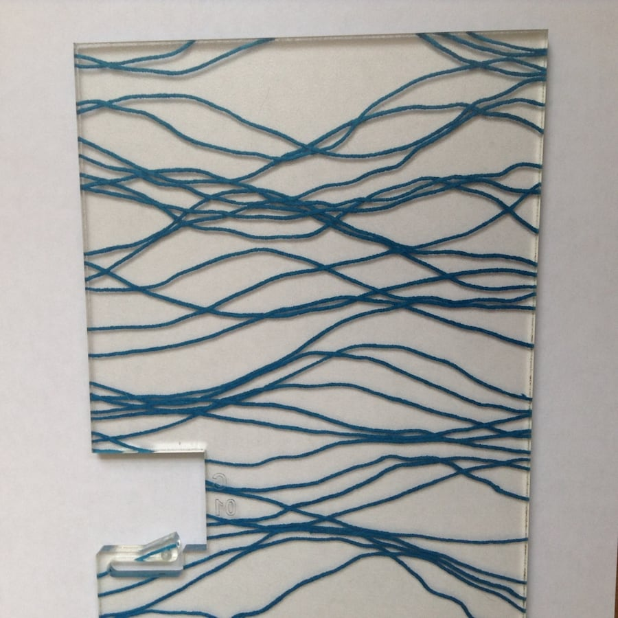 "Floating Wavy Wall Art on Mount 42"" x 8ft, 2 available, Home or Office 79a6f4fd-a4b5-4164-ada4-2e270215252f"