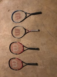 three black, red, and blue tennis rackets Fairfax Station, 22039