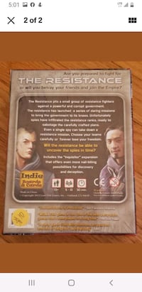DON ESKRIDGE'S THE RESISTANCE GAME INDIE BOARDS & CARDS NEW SEALED