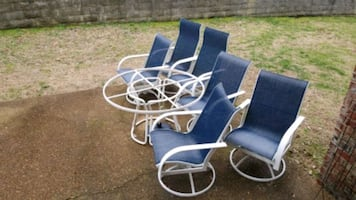 Patio table & chairs (6)