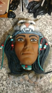 American Indian wall art faces