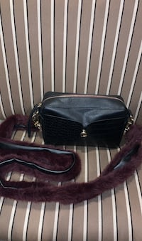 Faux fur long strap leather bag (50% off) Columbia, 21044