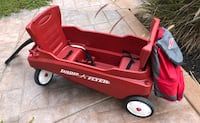 Radio Flyer Red wagon c seats and Attached Bag/cooler Martinez, 94553