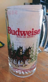 Collectible Vintage 1989 Clydesdale Glass Stein