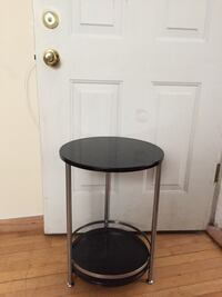 round black wooden side table Chicago, 60618