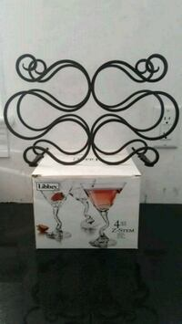 Wine rack + martini glasses