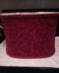 Lamp shade embroidered red. Cocoa, 32926