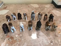 Antique dog and animal collection