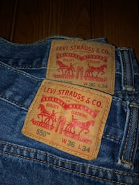 Men's 550 Levi's / 36 X 34 Germantown, 20874