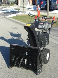"MUST GO BY TODAY BEST OFFER OVER $800.00 LIKE NEW 24"" CRAFTSMAN EZ STEER SNOWBLOWER WITH 277 CC OF POWER! 539 km"