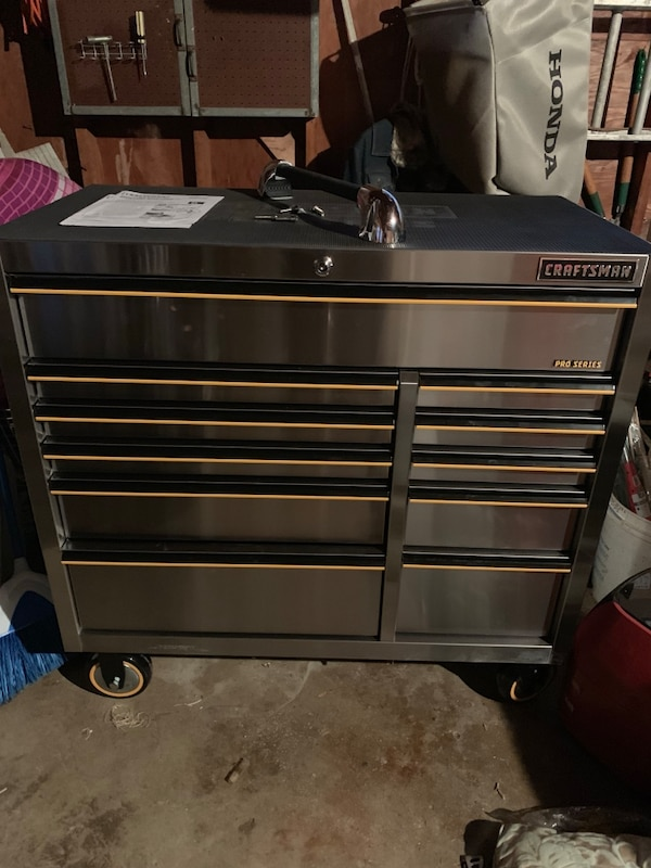 Stainless steel craftsman tool chest
