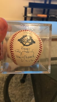 Roger Clemens 300 win/4000 strikeout autographed baseball Los Angeles, 90046