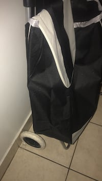black and white trolley bag
