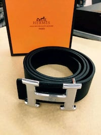 Hermes Black Belt with Silver Buckle Houston, 77074