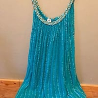 Turquoise summer beach dress. Greek or Mexican style Fort Worth, 76107