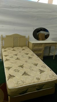 quilted white bed mattress
