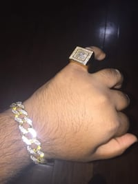 Iced out Bracelet + Ring *READ DESCRIPTION* Mississauga